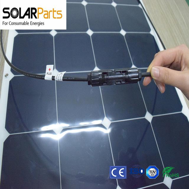 Solarparts 1PCS 100W pv flexible solar panel 12V solar cell/module/system car/marine/boat battery charger caravan camper led kit
