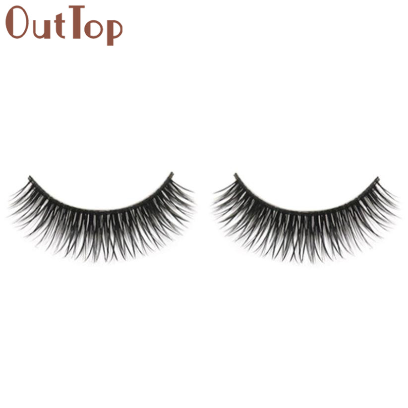 OutTop Natural Beauty Dense A Pair False Eyelashes New Eyelash Under Eye Pads Women makeup tools Maquillage 2017 May2
