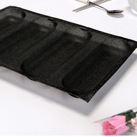 10 inch Baguette Baking Pan 4 Molds French Bread Silicone 4 Loaf Baguette Baking Tray Perforated Sub Roll Pan