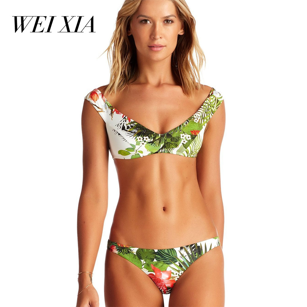 WEIXIA 2018 NEW Arrival Beautiful Show Women Bikini 9039 Two Piece Swimwear Swimsuit Brazilian Beach Wear