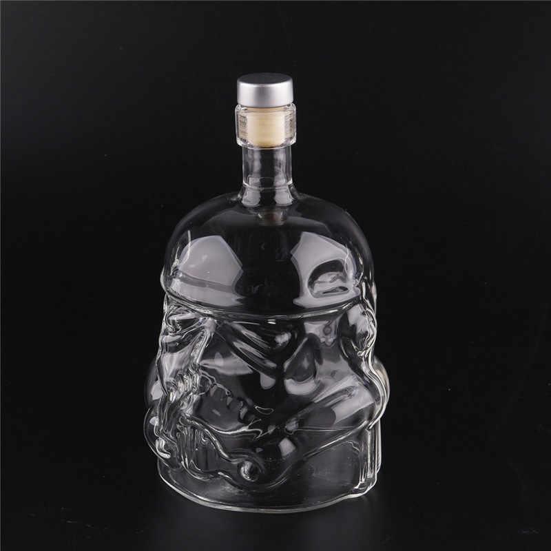 น้ำขวดน้ำแก้วแจกันสำหรับตกแต่งบ้านแก้วDIYน้ำขวดแปลกตาร์วอร์S Tormtrooperกระจกหมวกกันน็อควอดก้าวิสกี้