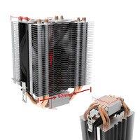 High Quality LED PC CPU Heat Sinks Dual Cooling Fan CPU Cooler Heatsink Silent Water Cooled