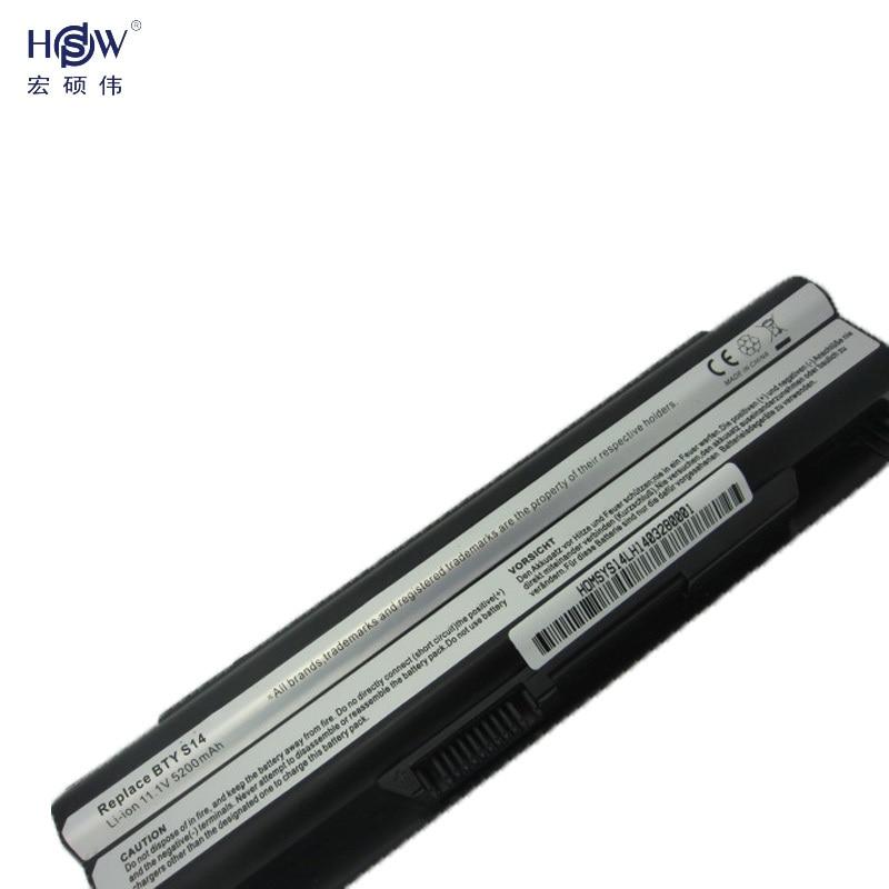 HSW 6cells batterij voor 40029150 40029231 40029683 BTY-S14 BTY-S15 - Notebook accessoires - Foto 2