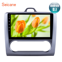 Seicane For 2004 2005 2006 2011 Ford Focus Exi AT Android 8.1 2 DIN 10.1 Inch GPS Navigation Touchscreen Quad core Car Radio 3G
