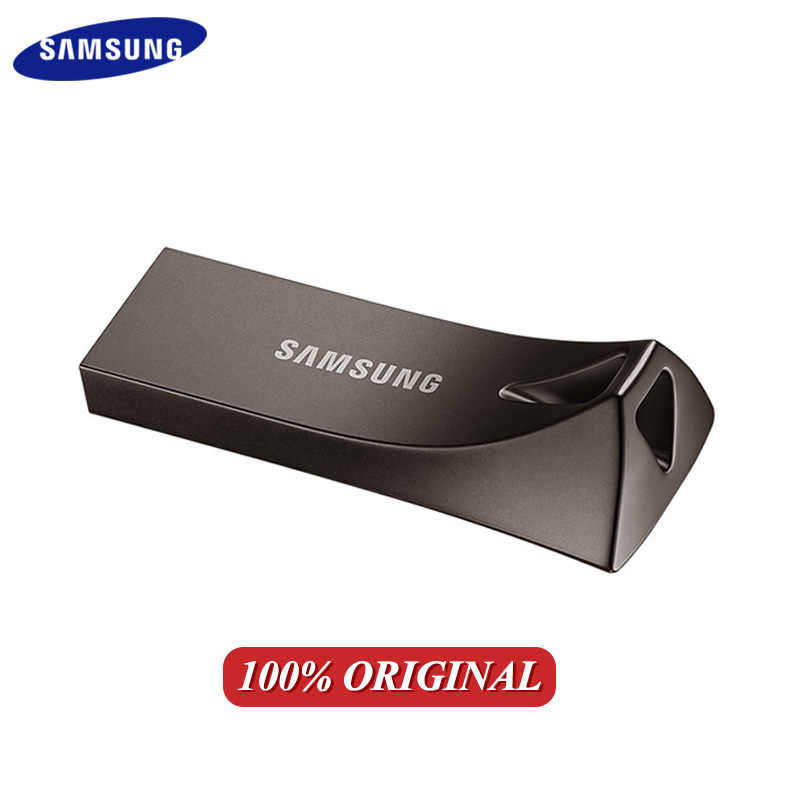 Original SAMSUNG USB Flash Drive U disco GB 32GB 64GB 128GB 256GB USB 3,1 de Metal Mini Pen Drive dispositivo de almacenamiento Pendrive barra gris oscuro