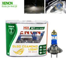 XENCN H7 12V 65W 4300K Gold Diamond Super Bright White Fog Lights Halogen Bulb Car Headlights Lamp Car Light Source parking
