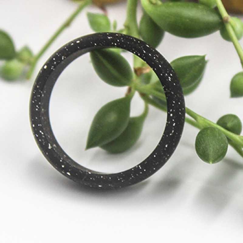1 PC 8.7 มม.แหวนซิลิโคน Marbled ซิลิโคนแหวนผู้ชายส่วนบุคคลซิลิโคนแหวนแฟชั่นเครื่องประดับ Dropship ใหม่