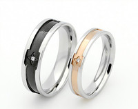 The New Diamond Ring Titanium Love Lovers Ring Jewelry Wholesale Trade