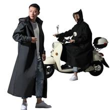 2019 Hot Sale EVA Raincoat Women/Men Zipper Hooded Poncho Motorcycle Rainwear Long Style Hiking Poncho Environmental Rain Jacket