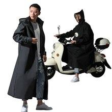 Casaco de eva para chuva e motocicleta, jaqueta estilo longo com capuz e zíper, roupa de chuva para homem e mulher, 2019