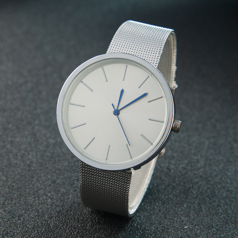 Neue Mode Einfachen Stil Uhr Casual Stahl Stahlmatten-quarz-armbanduhr Armbanduhr Damen Analog Männer Uhren Relogio Feminino Männliche Uhr