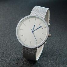 Nova Moda Estilo Simples Mulheres Relógio Casual Malha de Aço relógio de Pulso de Quartzo Senhoras Relógios Analógicos Homens Relógio Relogio feminino Masculino