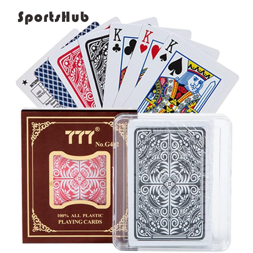 SPORTSHUB Matting Top Plastic Playing Cards Waterproof Black Plastic Playing Cards Creative Gift Durable Poker NR0127