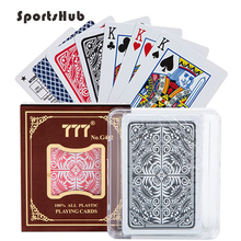 SPORTSHUB Matting Top Plastic Playing Cards Waterproof Black Creative Gift Durable Poker NR0127