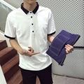 Verano Casual hombre polo shirts xxxl xxxxl xxxxxl xxxxxxl manga corta blanca negro gris tallas grandes 3xl 4xl 5xl 6xl