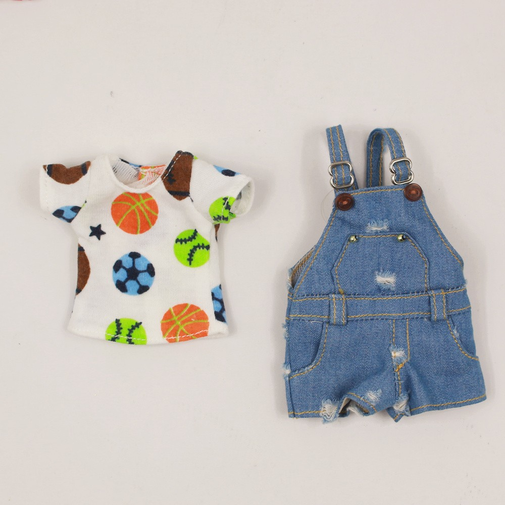 Neo Blythe Doll Shirt With Casual Pants & Rompers Suit 6