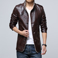 Men's Leather Jacket  Long Faux suede Leather Coat fur lining Coat Snow Coat Men plus size M-4XL