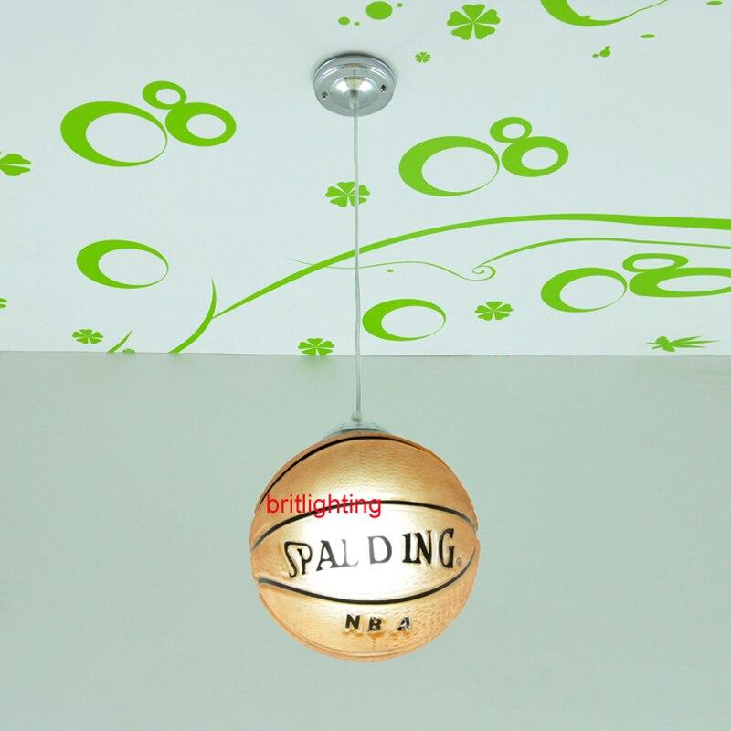 Lampes suspendues de basket lampes suspendues de chambre d'enfant lampe suspendue de chambre d'enfant LED chinois lampe pendante de boule de verre basket-ball - 2