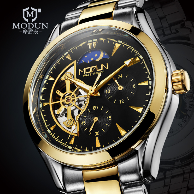 2017 Self Wind Male Clock Top Luxury Automatic Men Mechanical Watch Skeleton Self Winding Watches Steel Band relogio masculino лэндон д скандальная женитьба