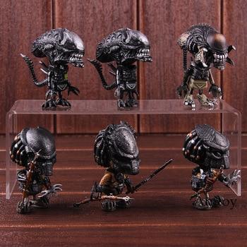 Aliens Vs Predator Requiem AVP Mini Cosbaby Wolf Predalien Battle Damaged Alien Doll Action Figure Toy 6pcs/set фото
