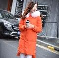 2016 Winter Women Down Coat Jacket Medium-long Super Real Fox Fur Hooded Parka 90% White duck down Big Pocket Outwear