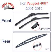 Kit Silicone Rubber Front And Rear Wiper Blades For Peugeot 4007 2007 2012 Windscreen Wipers Car