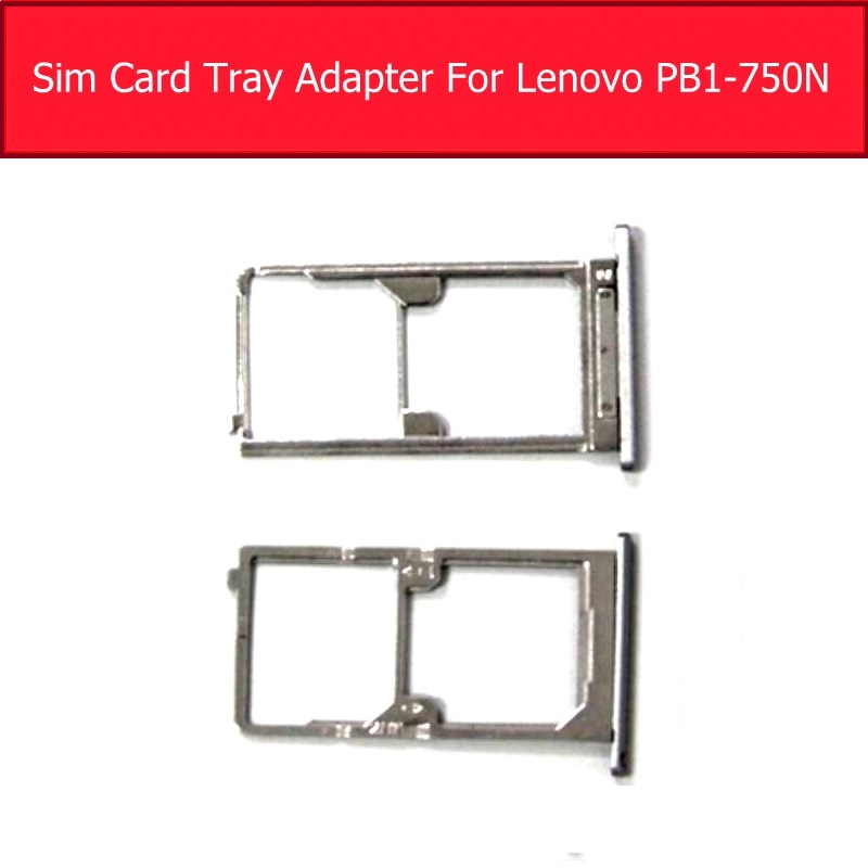100% Genuine Sim Card Tray Slot For Lenovo PB1-750 750N 750M SIM Card Connector Holder Metal Maetrial Replacement Parts