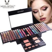 Miss Rose 180 Full Colors Makeup Eyeshadow Palette Piano Shaped Matte Shimmer Eye Shadow Blush Concealer