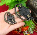 73*45mm/48*28mm antique style zinc alloy  handle for box handle pull knob for wooden boxes