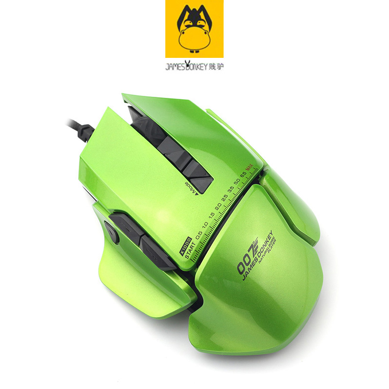 Green James Donkey 007 Multi-function Computer USB Wired Length 1.8M Mechanical FC Big Mouse Laptop Game LOL Custom Smart Mice lucky john croco spoon big game mission 24гр 004