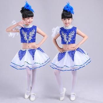 Boy girls jazz dance performing costumes childrens stage performances princess dresses latin dance, modern group