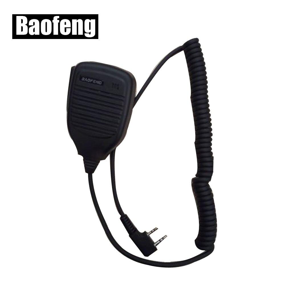 2 Pin PTT Président Mic pour Baofeng uv 5r pour Kenwood Quansheng PUXING TYT cb Radio Accessoires
