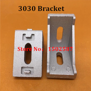 20pcs 3030 Brackets Corner fitting angle aluminum 35x35 L Connector bracket fastener for 3030 Industrial Aluminum Profiles(China)