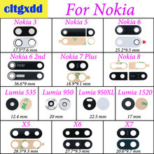 cltgxdd For Nokia 3 5 6 7Plus 8 Lumia 535 950 950XL 1520 X5 X6 X7 Rear Back Camera Glass Lens Cover with Ahesive Sticker(China)