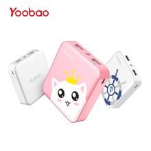 Yoobao M4 10400 мАч телефон Зарядное устройство Dual USB Выход Портативный устройства Зарядное устройство мини внешний Батарея со светодиодным индикатором для смартфонов