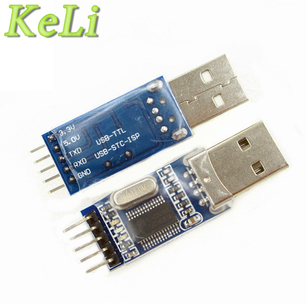 1pcs USB to TTL / USB-TTL / STC microcontroller programmer / PL2303 in nine upgrades plate with a transparent cover PL2303HX pcb stc auto downloader programmer