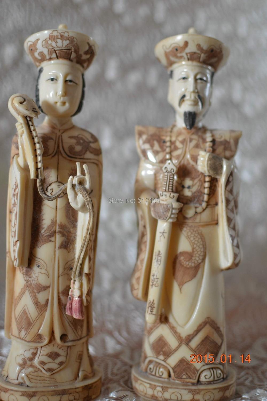Bone Chinese King And Queen Figurines Bone Statue Bone Carving Bone Netsukes Statue Of Liberty 3d Puzzle Statue Of Liberty Bronzenetsuke Carving Aliexpress