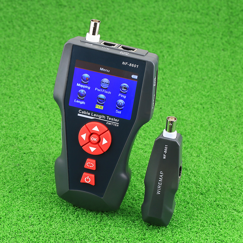 NF-8601A Multi-functional Network Cable Tester LCD Cable no with length Tester Breakpoint Tester English version original noyafa multi functional network cable tester lcd cable length tester breakpoint tester english version nf 8601