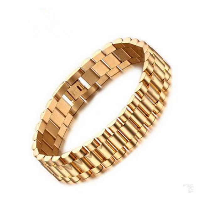 Popular New Bracelet Stainless Steel Bracelet Gold Titanium Steel Fashion Jewelery Wholesale BR-201