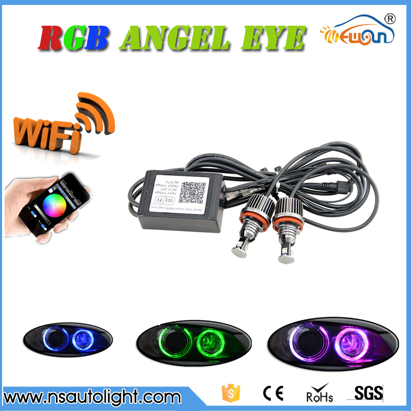 WIFI Led Marker Angel Eyes halo rings conversion kit  Color Change RGBW H8 led marker For BMW E90 E92 E60 E70 X5 E71