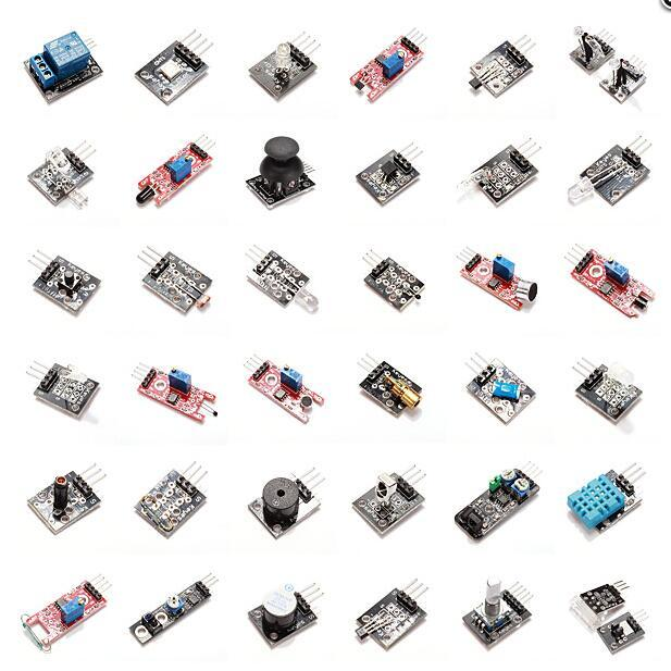 37 In 1 Sensor Module Board Set Kit For Arduino Free Shipping