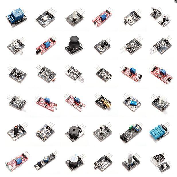 37 In 1 Sensor Module Board Set Kit For Arduino Free Shipping