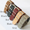 Special Offer Classic 20mm 22mm 24mm NATO Crazy Horse Leather Watchband ,NATO Mens Women Fashion Leather Watch Strap Bracelet