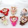 Super bonito 1 pcs 11 cm metoo keppel menina angela pelúcia brinquedo macio do bebê toys keychain presentes de aniversário de natal das crianças para meninas