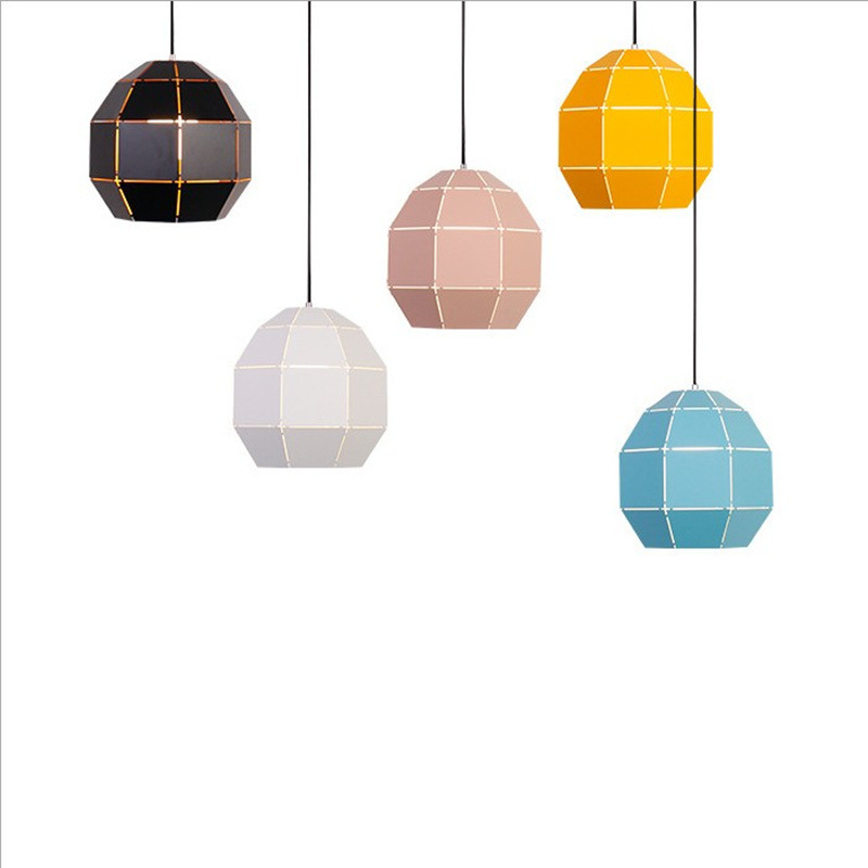 Post modern simple pendant lights colorful metal lamp body LED macarons kids room study foyer decoration droplight free shipping macarons modern simple led dining room pendant lights macaron colorful creative foyer droplight kids room lighting fixture