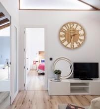 Pastoral Creative Wooden Wall Clock