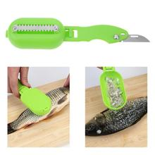 Plastic Fish Scales Skin Remover Scaler Knife Fast Fish Peeler Tool Fish Skin Steel Scraper Gadgets Fish Peeler Pesca Iscas Tool electric fish scaler fish scales removing and scraping machine