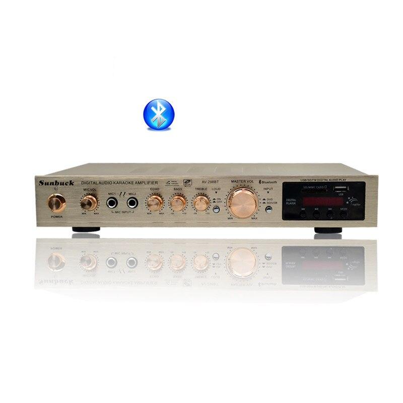 amplifier audio2018 2-channel home amplifier power USB built-in Bluetooth amplifier rockford punch 1 channel amplifier