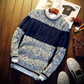 Thin Round Neck Sweater Christmas Long Sleeve S304 Christmas Sweater Men Pullover Men Male Sweater Pull Homme Marque