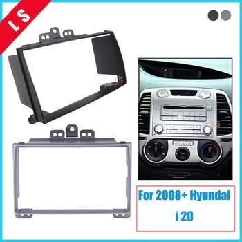 цена на Double Din Car Radio Fascia For Hyundai I-20 I20 I 20 2008+ 2 DIN,Stereo Plate Frame Panel Dash Mount Kit Adapter Trim Bezel